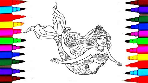 barbie dreamtopia coloring pages  barbie mermaid drawing