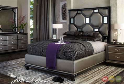 black modern bedroom set michael amini after eight modern upholstered bedroom