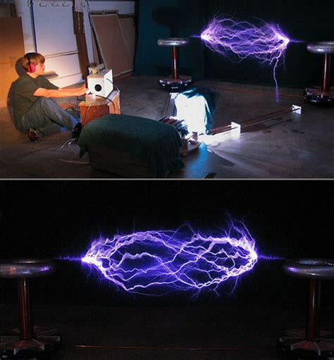 Build A Tesla Coil At Home Builds Awesome Tesla Coil Setup At Home Techeblog