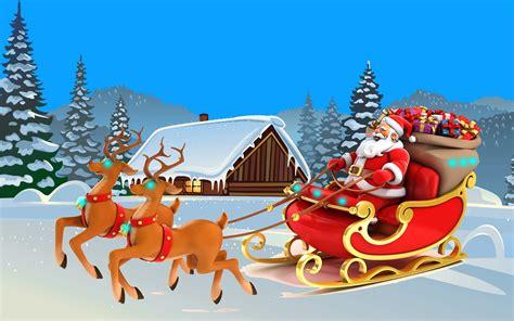 happy  year christmas card santa claus  lapland  ultra hd desktop wallpapers