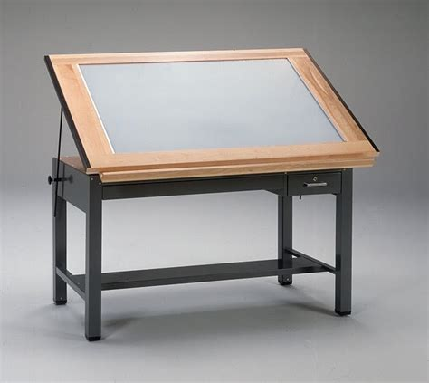 Mayline Ranger Drafting Table Mayline Ranger 7734blt Lighted Drafting Table