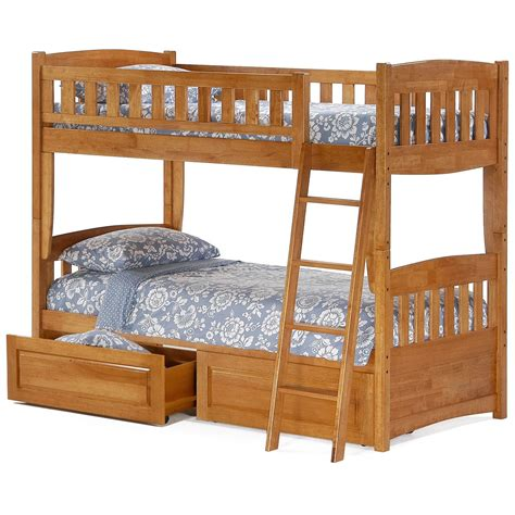 twin bed bunk beds night and day cinnamon twin over twin bunk bed