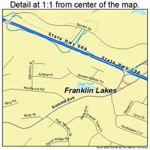 franklin lakes new jersey map 3424990