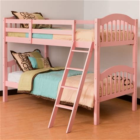 pink bunk bed storkcraft long horn bunk bed in pink free shipping 275 99