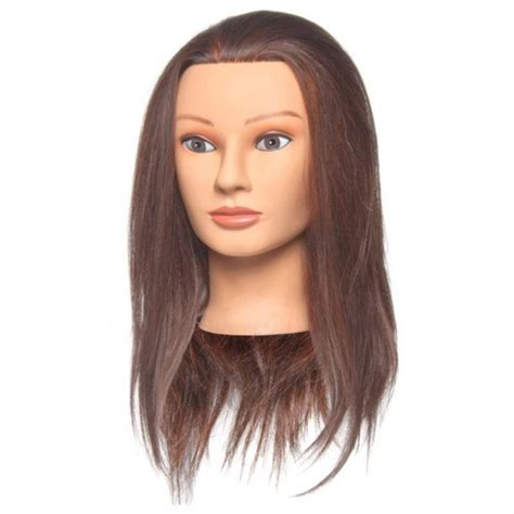 Human Hair Mannequin Heads by Diane Penelope Human Hair Mannequin D308