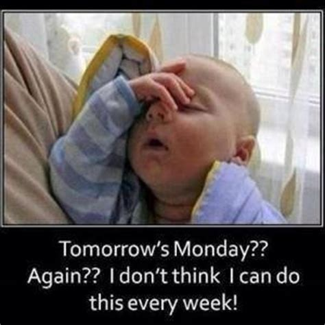 Its Monday Tomorrow Meme - tomorrow s monday baby meme funny joke pictures