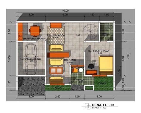 desain gambar denah rumah gambar desain rumah tak depan type 36 contoh sur