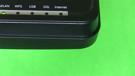 internet light blinking red and green wi fi and internet connection indicators stock footage