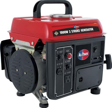 Small Home Generator Reviews All Power 1000 Watt Two Stroke Portable Gas Generator Sears