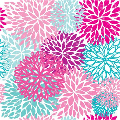 seamless pattern flower floral particoloured seamless pattern royalty free vector