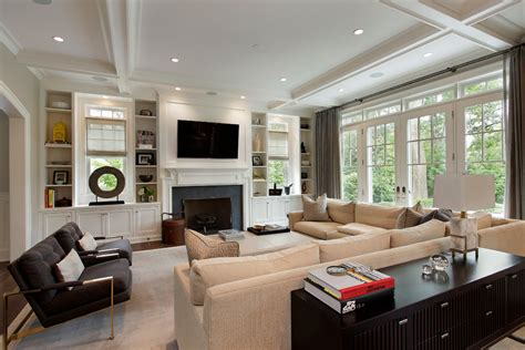 black built ins built ins around fireplace living room contemporary with
