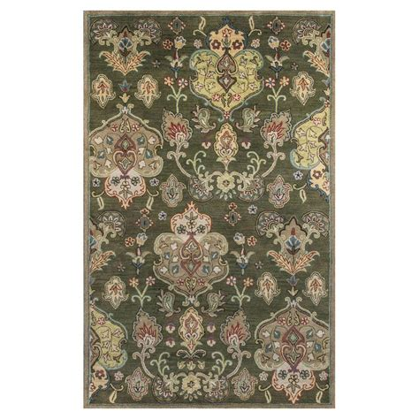 beige and green area rugs kas rugs brocade green beige 9 ft x 13 ft area rug syr60269x13 the home depot