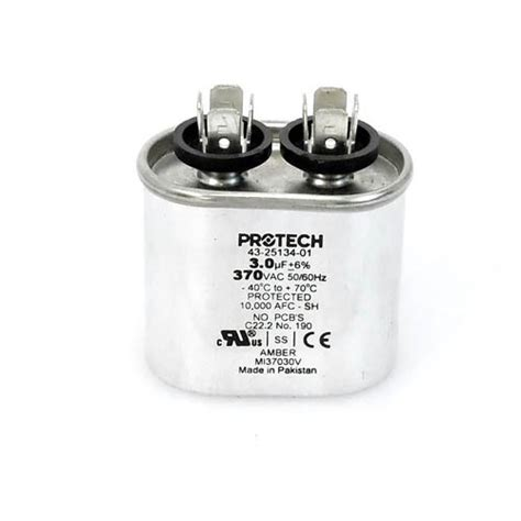 capacitor for ruud heat 43 20847 02 ruud oem oval replacement run capacitor 3 uf mfd 370 volt cooling and heating plus