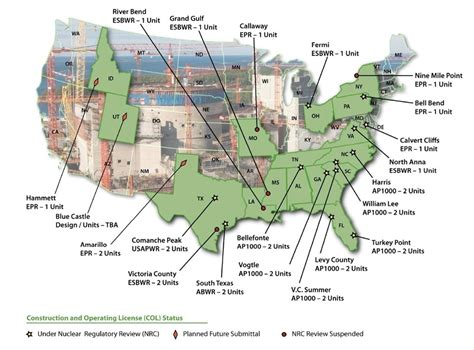map us nuclear plants nuclear power plants in usa map
