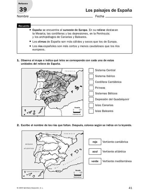conocimiento medio andalucia 6 de actividades de refuerzo conocimiento medio 6 186