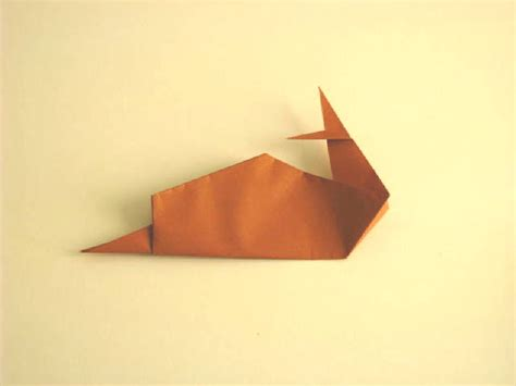 How To Make Origami Snail - origami snail folding how to make an easy