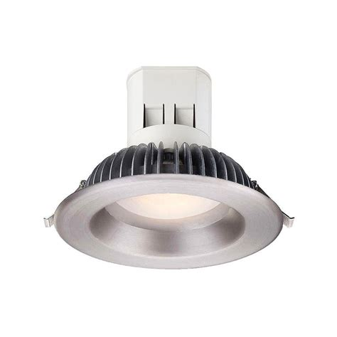 Led Bulbs For Recessed Can Lights Commercial Electric 40 In Led Brushed Nickel Shop Light With Bluetooth Speakers Bright White