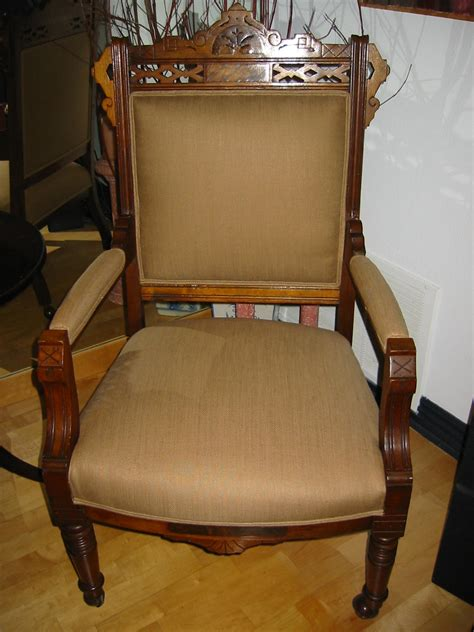 Antique Arm Chair Design Ideas Empire Wood Arm Chair Crested Updated Upholstery For Sale Antiques Classifieds