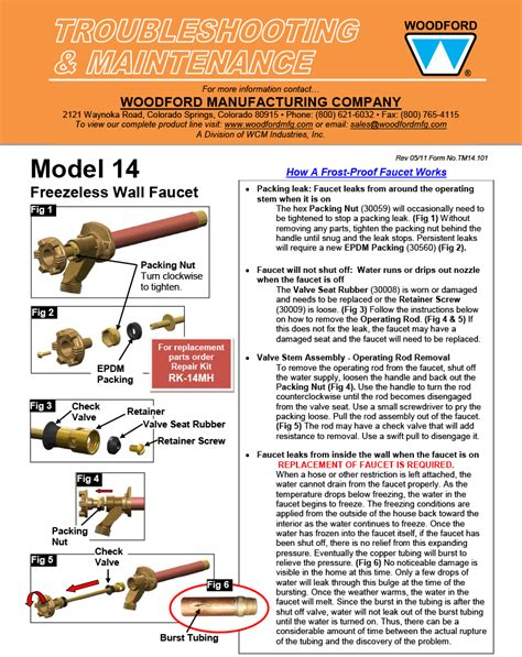 How To Repair Woodford Outdoor Faucet by Woodford Model 14 Freezeless Faucet