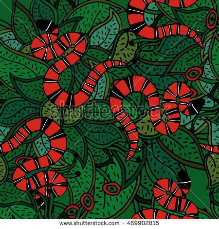 Gucci Floral White Pattern 2017 coral snake striped snake on green botanical
