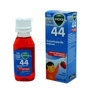 Vicks Formula 44 Syrup 54ml jual beli vicks f44 anak syr 54ml k24klik