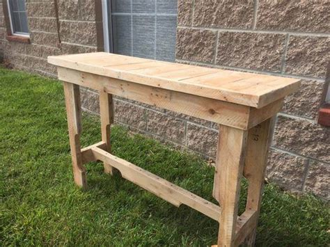 Sofa Table Made From Pallets Diy Reclaimed Pallet Sofa Table 101 Pallets