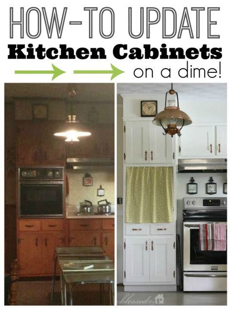 How To Update My Kitchen Cabinets | how to update kitchen cabinet doors on a dime