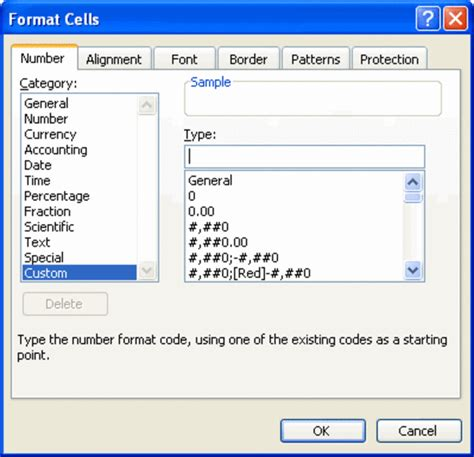 format cells in excel 2007 custom creating a timest