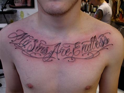 small tattoo lettering ink chest quotes design idea for and
