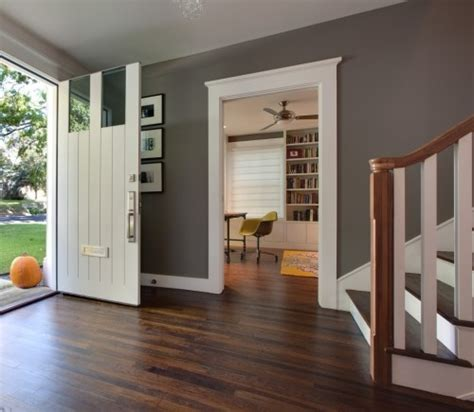 the wall color white trim hardwood floors