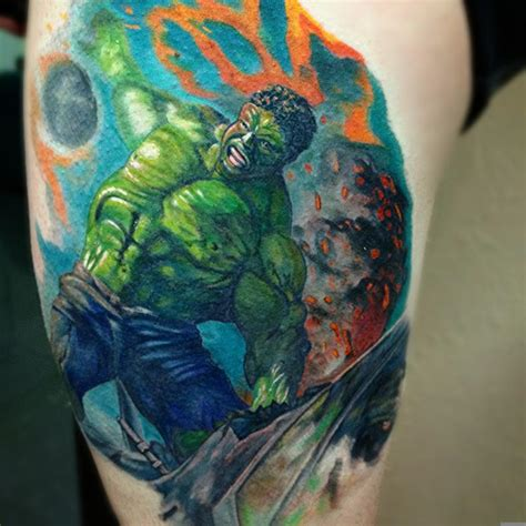 incredible hulk tattoos by robbie ripoll tattoonow