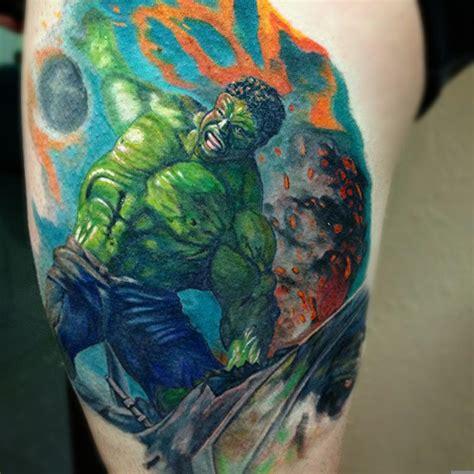 incredible hulk tattoos by robbie ripoll tattoos