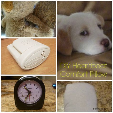 heartbeat stuffed animal for puppy diy heartbeat pillow for puppies kittens and babies burnt apple