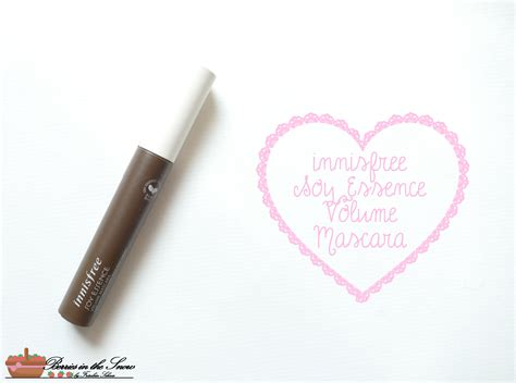 Mascara Innisfree review innisfree soy essence volume mascara berries in