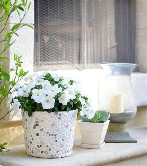 Rock Home Decor by Diy Flower Pot For Decorative Garden Plants Interior And