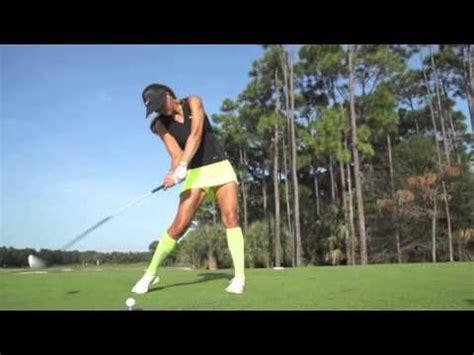 slow golf swing technique michelle wie s swing in slow motion golf com youtube