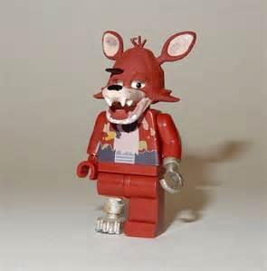 New lego custom printed fnaf foxy five nights at freddy s