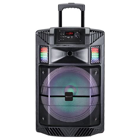 portable speaker with lights 15 quot portable bluetooth 174 dj speaker with disco light efect