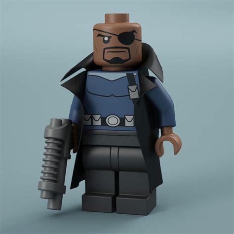 Lego Kw Lebq Nick Fury lego nick fury 3d max