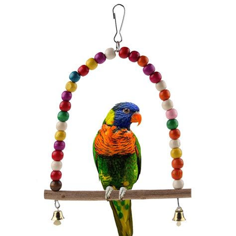 parrot swing colorful bird toy parrot swing cage toys for parakeet