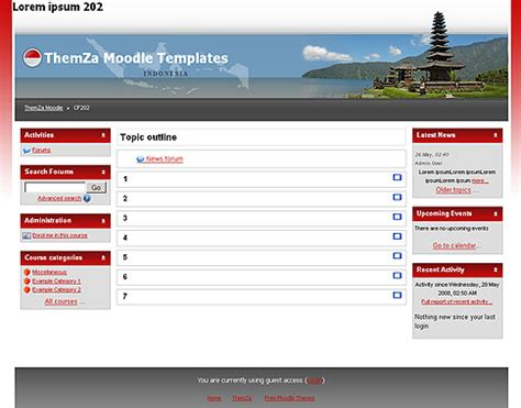 moodle theme version free moodle themes miracles of indonesia by themza