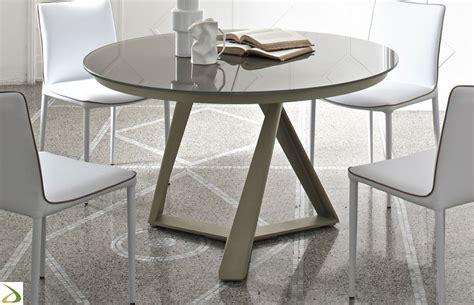 tavolo da soggiorno allungabile tavolo design rotondo millennium di bontempi arredo