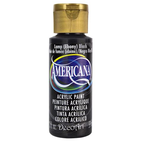 decoart americana 2 oz l black acrylic paint