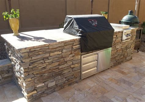 Diy Kitchen Island Table mcdowell mountain ranch built in bbq traditional patio