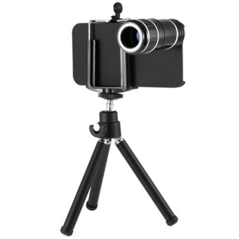 Tele Zoom Tripod apple iphone 5 12x optical zoom telephoto lens w mini