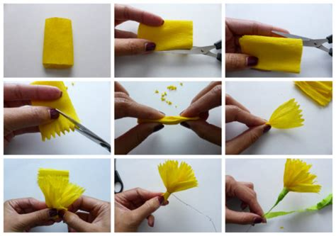 Easy Steps To Make A Paper Flower - diy project autumn wedding how to make paper flowers
