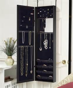 Over The Door Mirror And Jewelry Armoire Mirrotek International Black Over The Door Mirrored