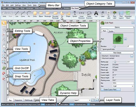 landscape design software by idea spectrum realtime window layout