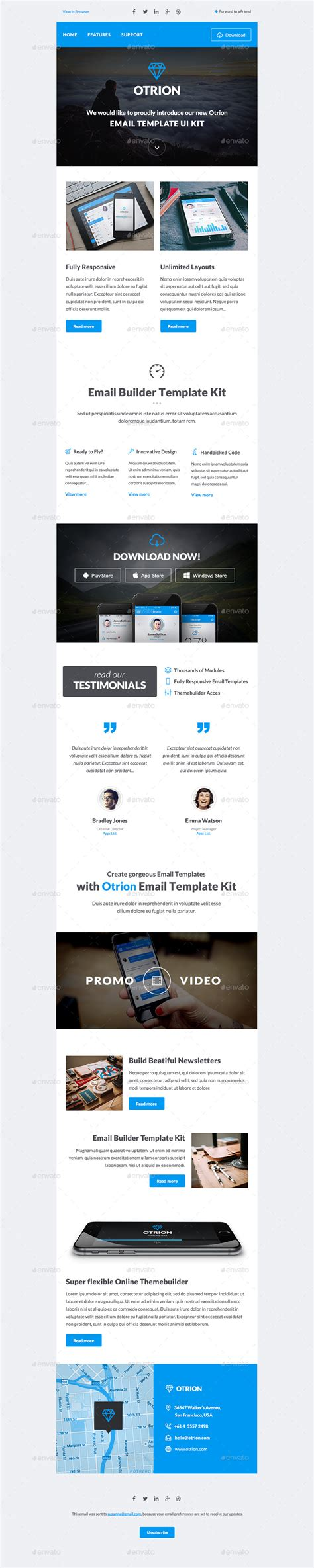 Otrion E Mail Template Builder By Megyunkborabora Graphicriver Email Template Builder Software