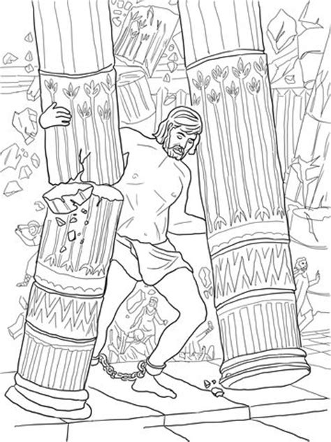 Samson Pillars Coloring Page by 25 Best Ideas About Samson Craft On